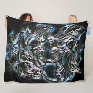 Poseidon Airbrush Art Fleece Blanket