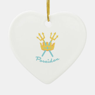 Poseidon Ceramic Heart Ornament