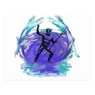 Poseidon God of the Sea 1 Postcard