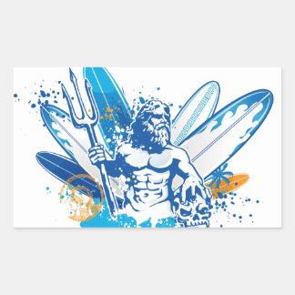 poseidon surfer sticker