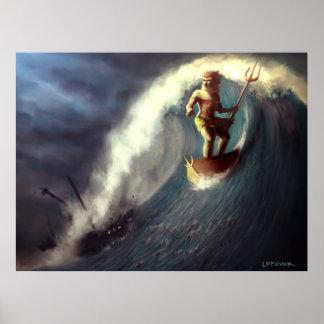 Poseidon's Chariot Poster