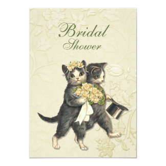 Posh Cats Bridal Shower Invitation