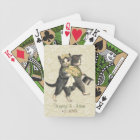 Posh Cats Wedding Ivory Bicycle Playing Cards