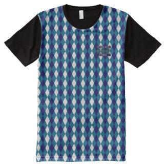 Posh Diamond Blue-White Modern Shirt