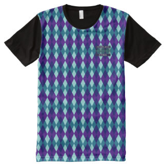 Posh Diamond Purple Blue Modern Shirt