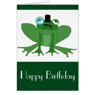 Posh Frog Birthday Card