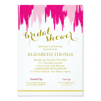 Posh Garland Bridal Shower Invitation