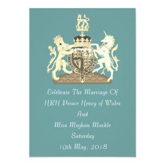 Posh Harry and Meghan Royal Wedding Custom Invite