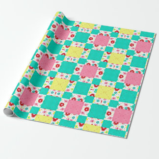 Posh Patchwork Wrapping Paper