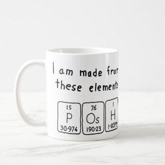 Posh periodic table name mug