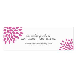Posh Petals | Berry | Wedding Website Cards Pack Of Skinny Business Cards