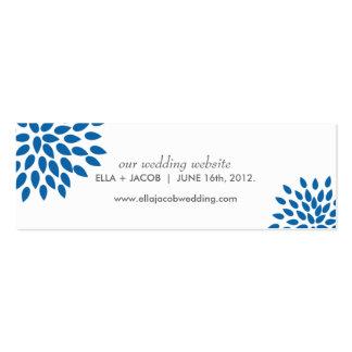 Posh Petals | Cerulean | Wedding Website Cards Pack Of Skinny Business Cards