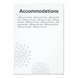 "Posh Petals   Silver   Accommodations Insert 3.5"" X 5"" Invitation Card"
