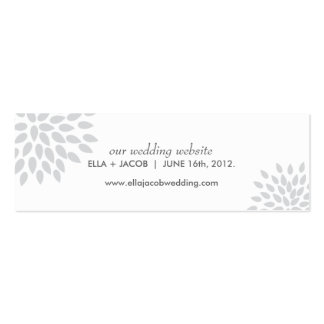 Posh Petals | Silver | Wedding Website Cards Business Card Templates