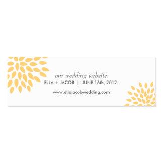 Posh Petals | Sunshine | Wedding Website Cards Pack Of Skinny Business Cards