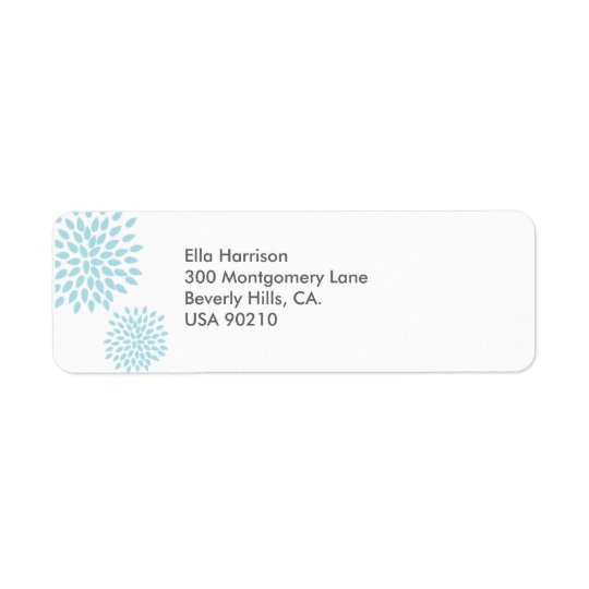 Posh Petals | Twilight | Return Address Label