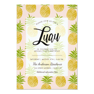 Posh Pineapple Luau Invite
