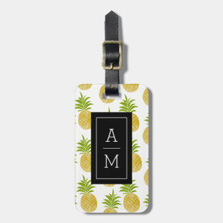 Posh Pineapple Monogrammed Luggage Tag