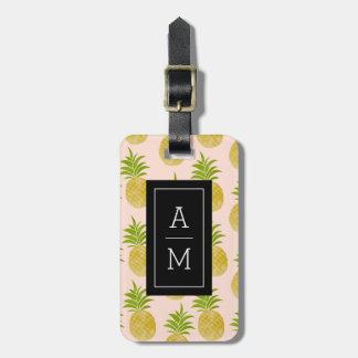 Posh Pineapple Monogrammed Luggage Tag