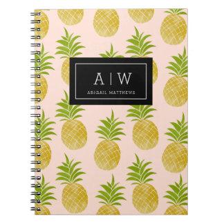 Posh Pineapple Monogrammed Notebook
