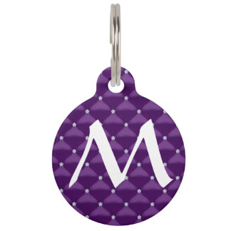 Posh Purple & Silver Bling Pet ID Tags