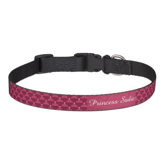 Posh Red Violet & Silver Bling Pet Collar