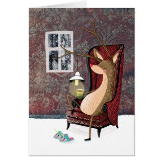 Posh Reindeer Card