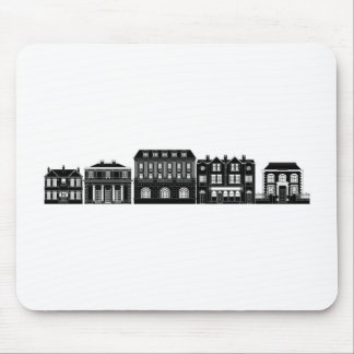 Posh smart row of buildings mouse pad