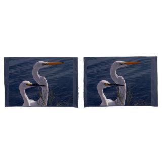 Posing Egrets Pillowcase