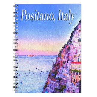 Positano, Italy Sunset Notebook