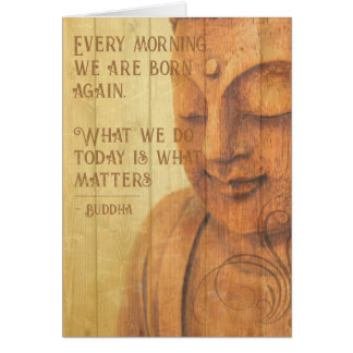 Positive Affirmation Buddhism Mindfulness Quote Card