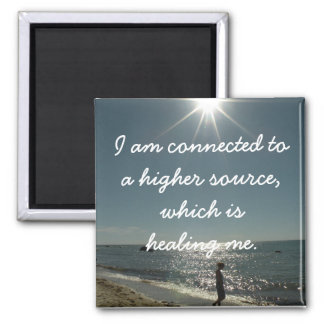 Positive Affirmation for someone Chronically Ill Square Magnet