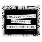 Positive Affirmation Miracles Magic Colour Me DIY Poster