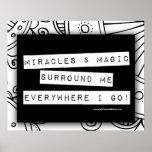 Positive Affirmation Miracles Magic Colour Me DIY Poster