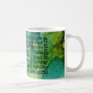 Positive Affirmations I AM Statements Coffee Mug