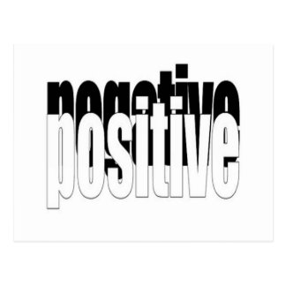 Positive And Negative Postcard