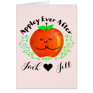 Positive Apple Pun - Appley Ever After Card