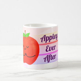 Positive Apple Pun - Appley Ever After Coffee Mug