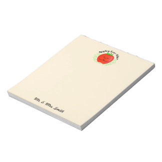 Positive Apple Pun - Appley Ever After Notepad