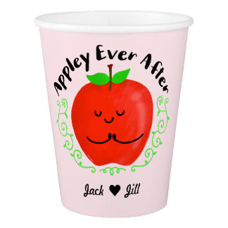 Positive Apple Pun - Appley Ever After Paper Cup