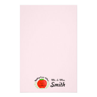 Positive Apple Pun - Appley Ever After Stationery