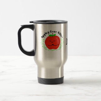 Positive Apple Pun - Appley Ever After Travel Mug