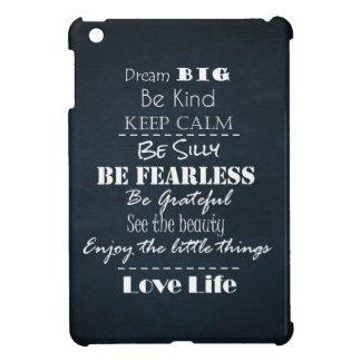 Positive Attitude Affirmations Quotes iPad Mini Cover