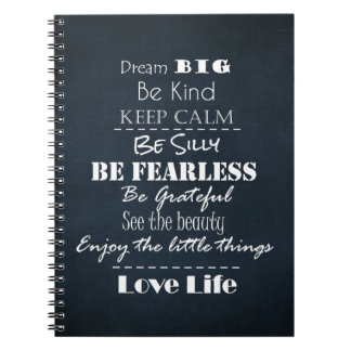 Positive Attitude Affirmations Quotes Spiral Notebook