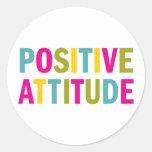Positive Attitude in bright colours