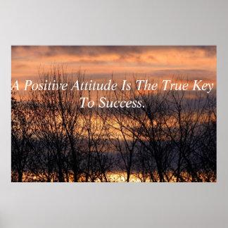 Positive Attitude Inspirational Poster