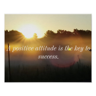 Positive Attitude Inspirational Sunrise Poster