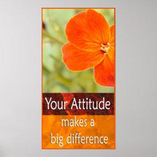 Positive Attitude Motivational Poster