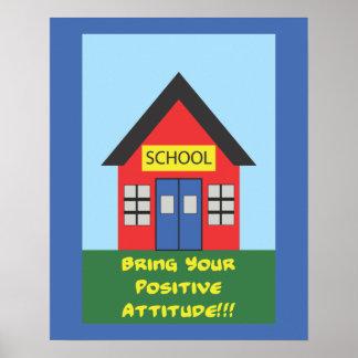 Positive Attitude School Poster