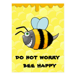 positive bee postcard